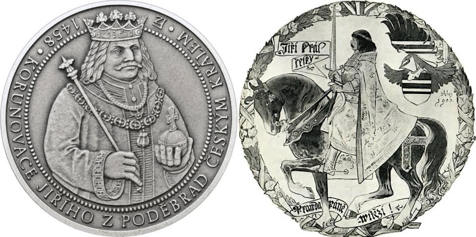 Český král Jiří z Poděbrad